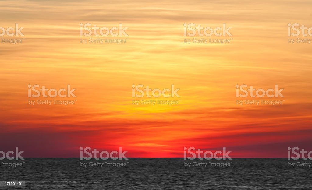 Layered Sunset in Key West, Florida royalty-free stock photo
