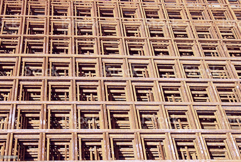 layers of construction iron royalty-free stock photo