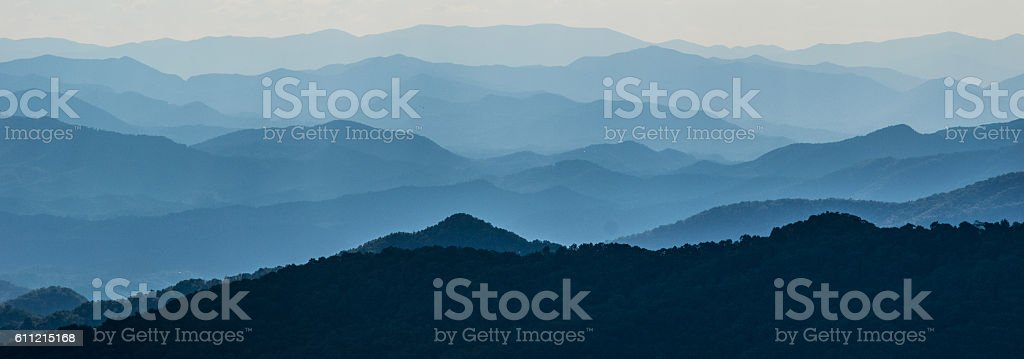 Layers of Mountain Ridges stock photo