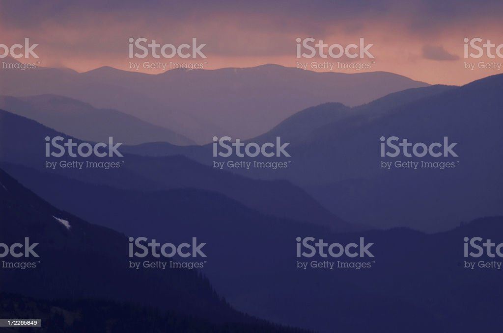 layers of mountains royalty-free stock photo