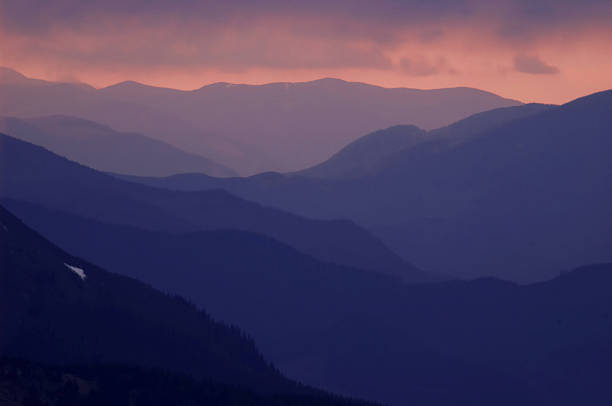 layers of mountains stock photo