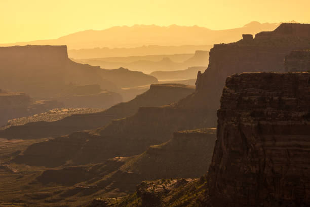 Layers of rock formations, Canyonlands National Park stock photo