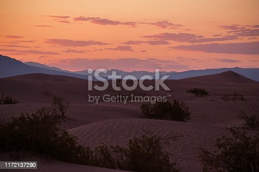 Sand dunes and a Pink sky