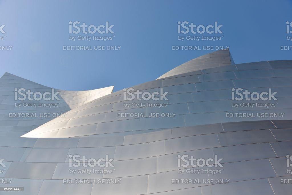 Layers of tiles, Walt Disney Concert Hall stock photo
