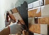 istock Laying Ceramic Tiles. 534500443