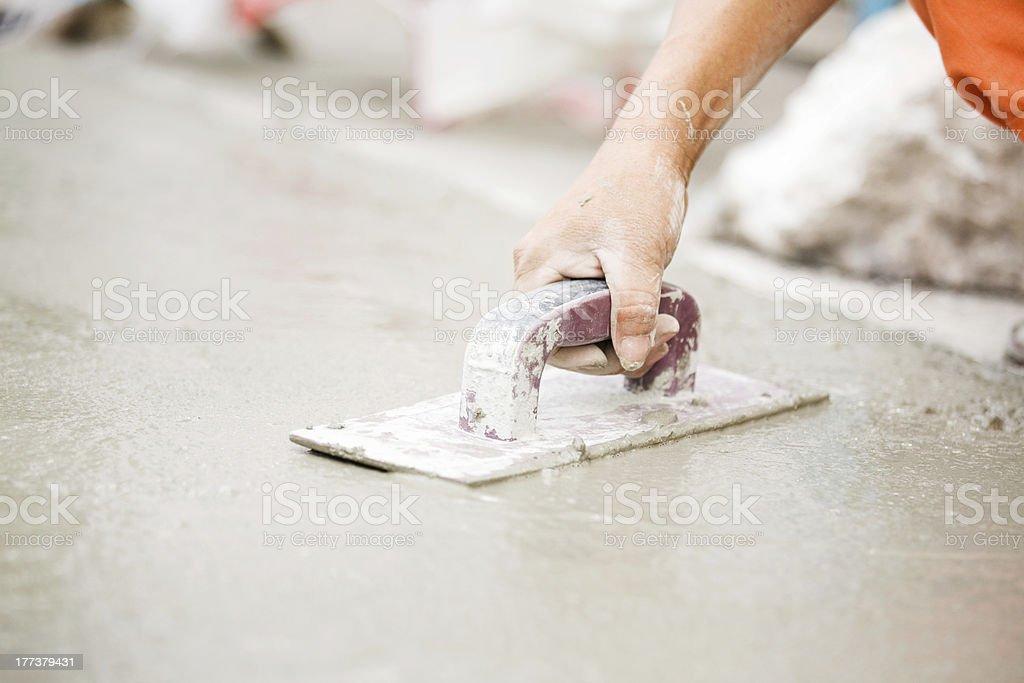 Laying Concrete stock photo