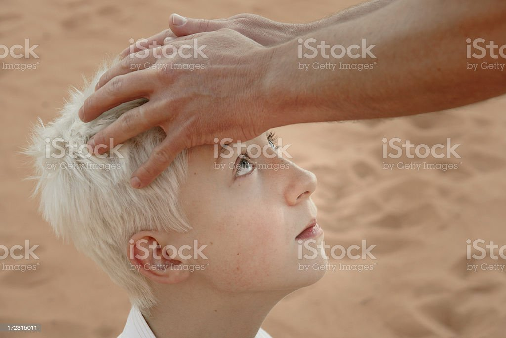 Laying on of Hands stock photo