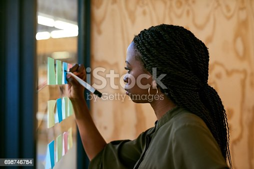 istock Laying out her ideas 698746784