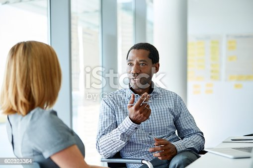 istock Laying out his plan 602323364