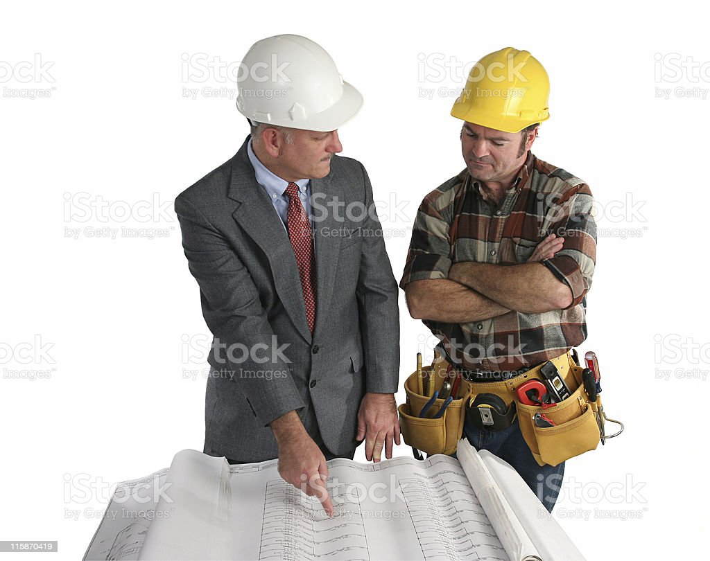 Laying Out the Job royalty-free stock photo