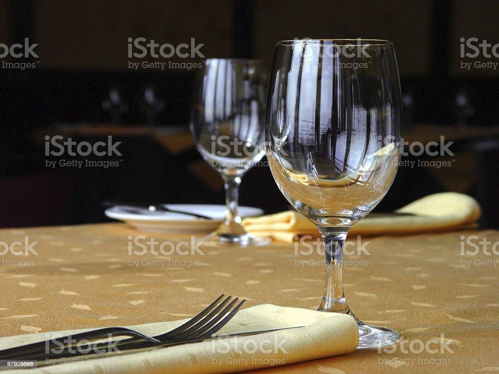 Laying restaurant royalty-free stock photo