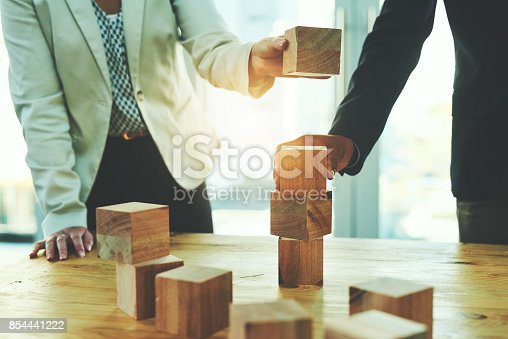 istock Laying their success on a solid and stable foundation 854441222