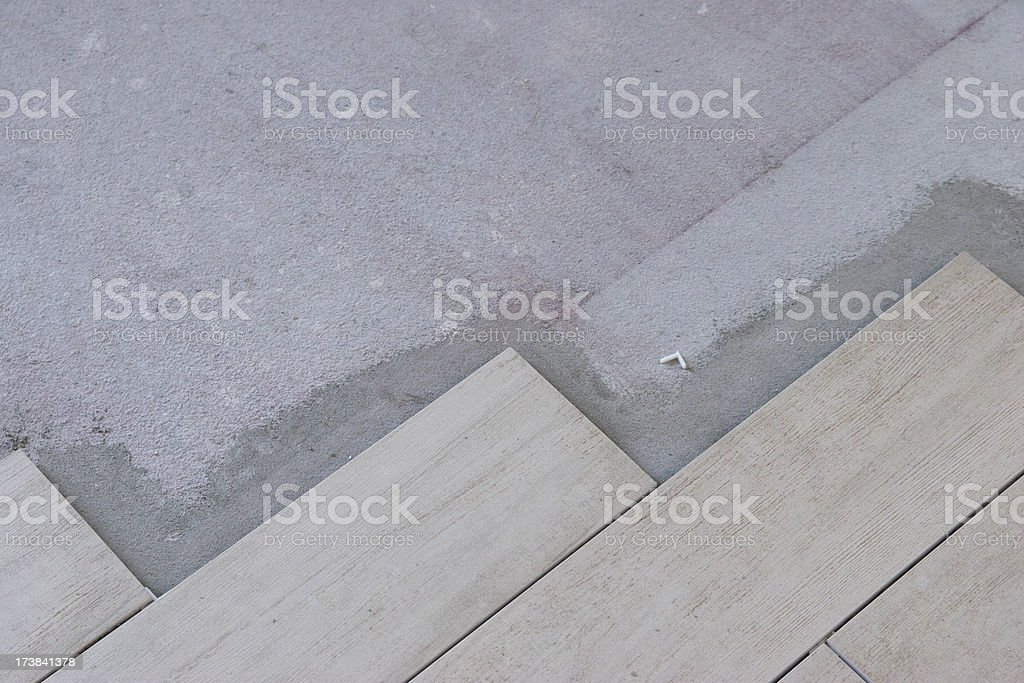 laying tiled floor royalty-free stock photo