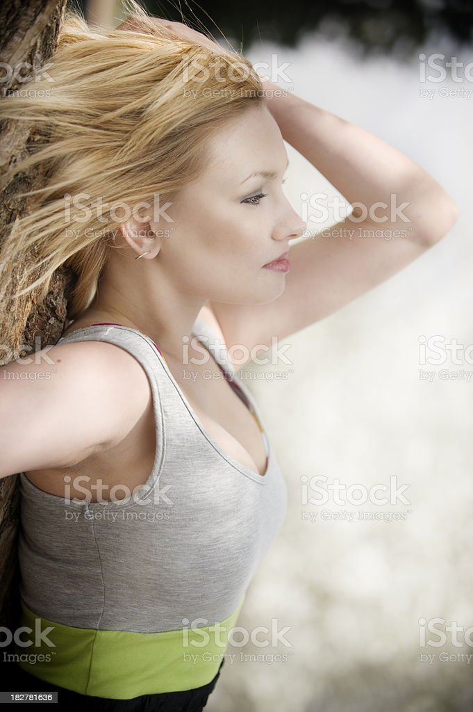 Laying Vertically stock photo