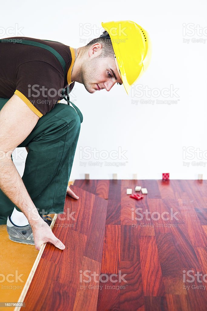 Laying wooden floor royalty-free stock photo