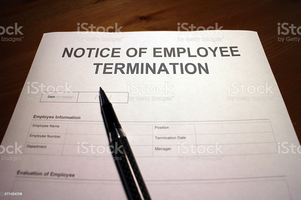Layoff Notice stock photo