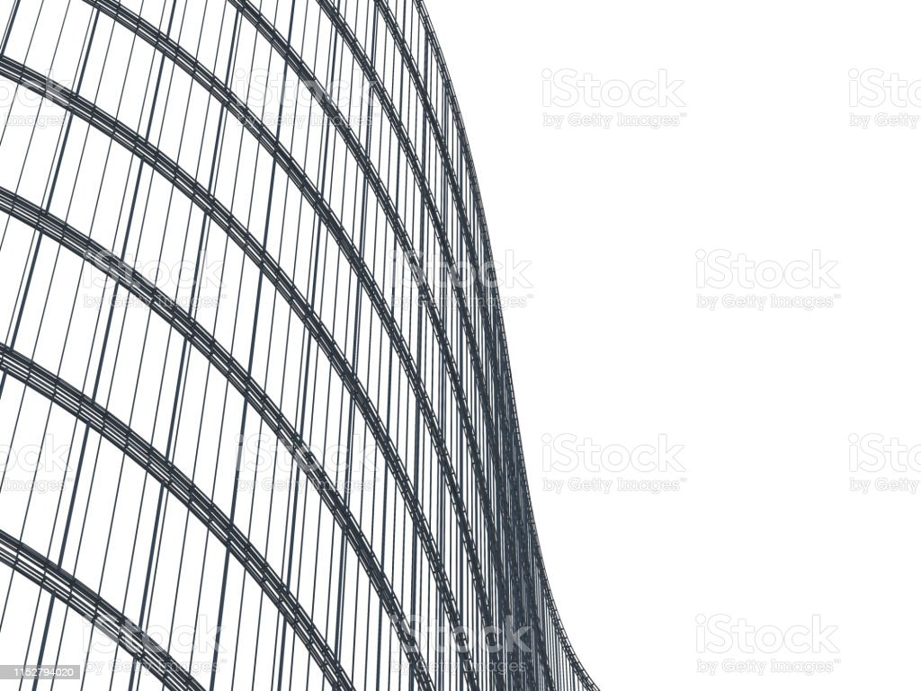 Layout of curve office building, Graphic of architecture for design...