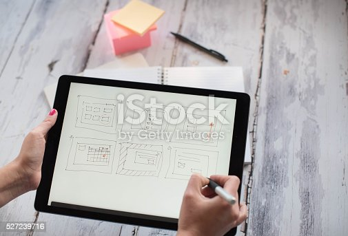 istock Layout sketch on digital tablet 527239716