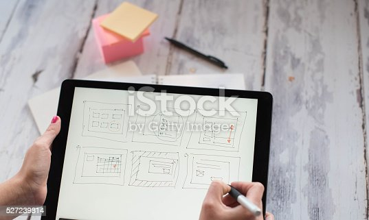 istock Layout sketch on digital tablet 527239814