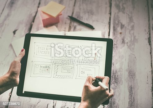 istock Layout sketch on digital tablet 527239870
