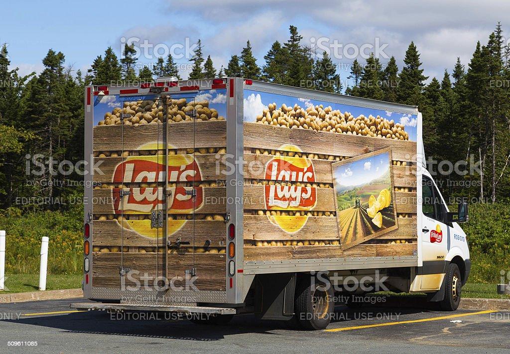 Lays Food Truck stock photo
