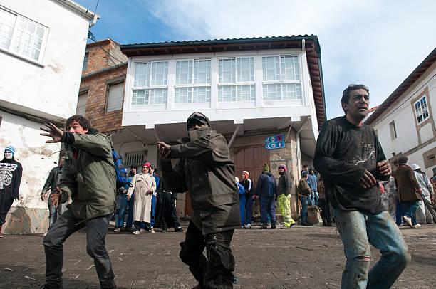 Laza Carnival Farrapada stock photo