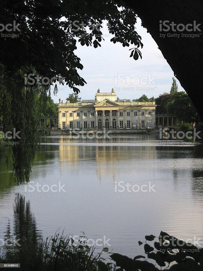 Lazienki palace stock photo