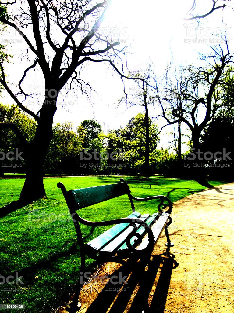 'Lazienki' Park in Warsaw royalty-free stock photo