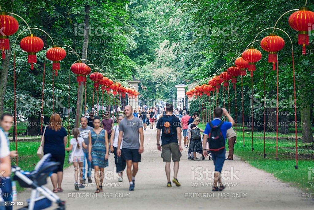 Lazienki Park, Warsaw stock photo