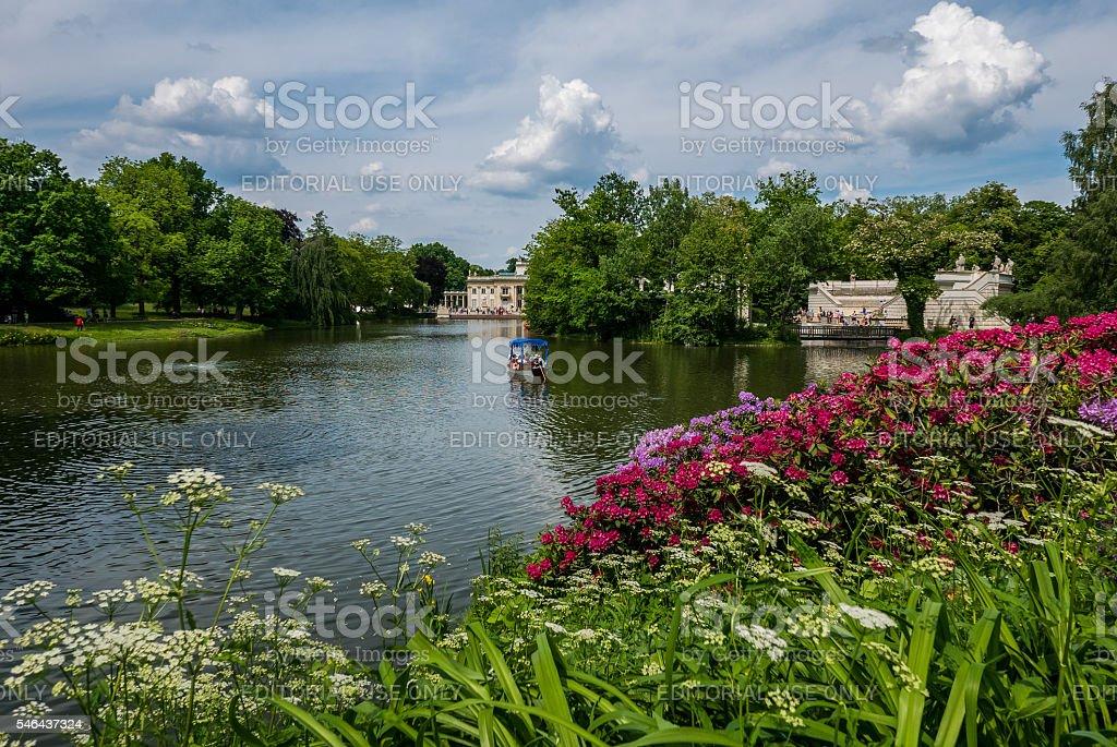 Lazienki Park, Warsaw, Poland stock photo