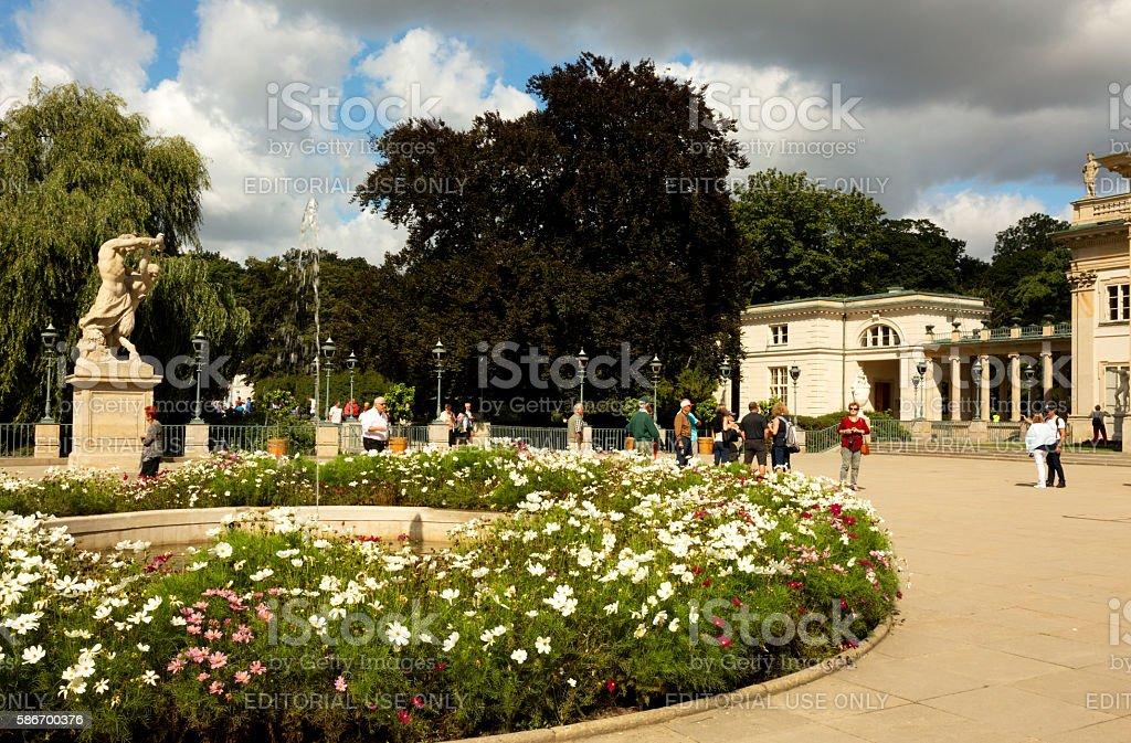 Lazienki Royal Park in summer stock photo