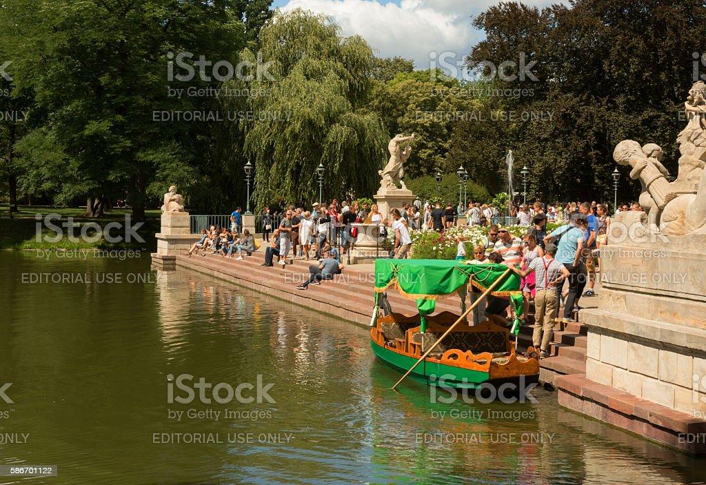 Lazienki Royal Park in warsaw,summer stock photo