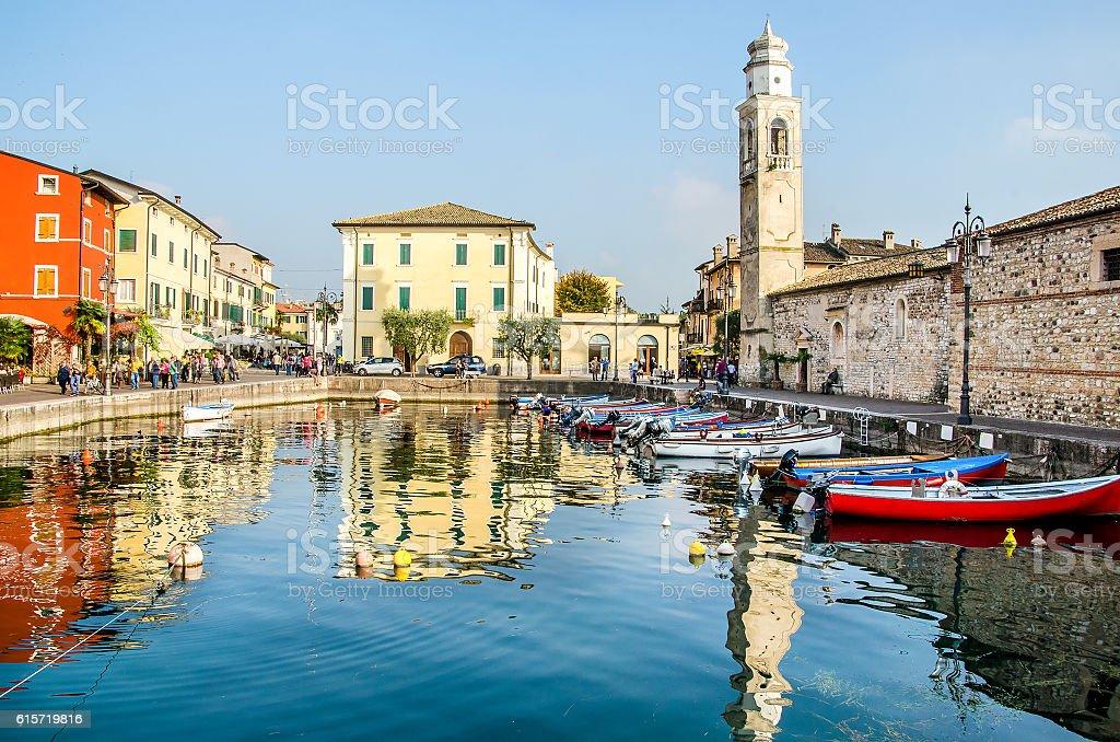 Lazise Lago di Garda Verona Veneto Italy stock photo