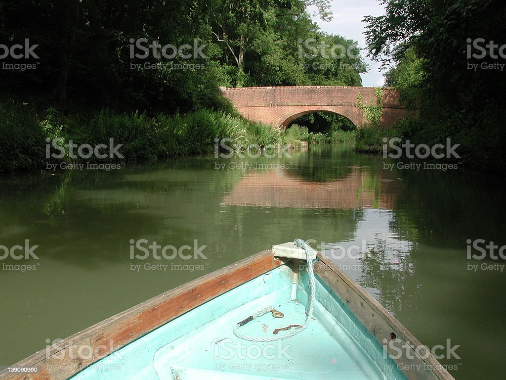 Lazy boat trip stock photo
