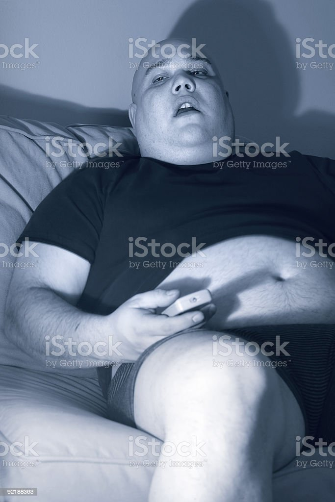 Lazy couch potato royalty-free stock photo