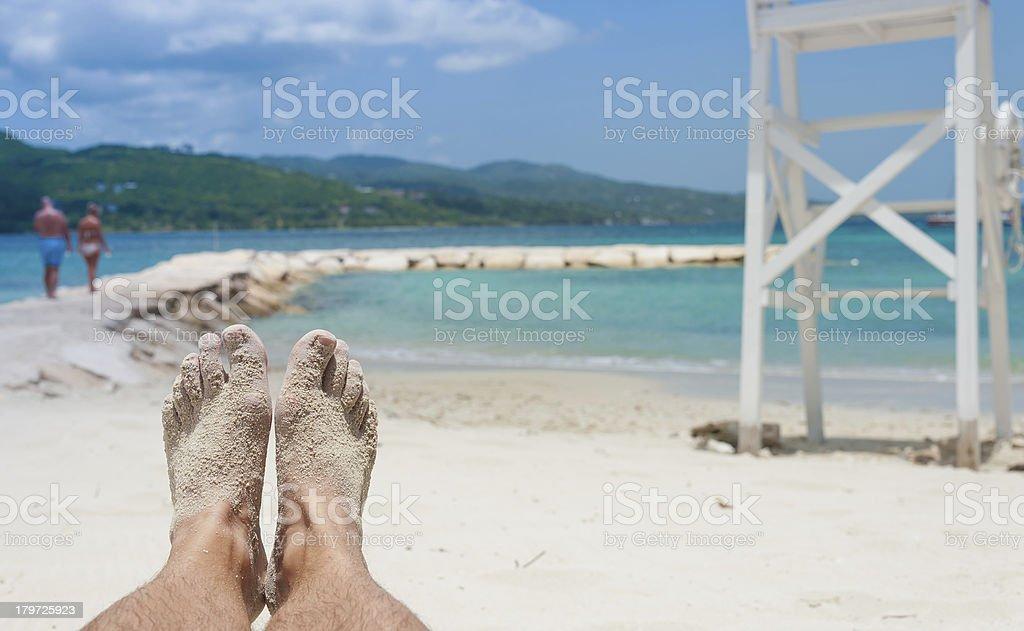 Tranquilo día en la playa - foto de stock