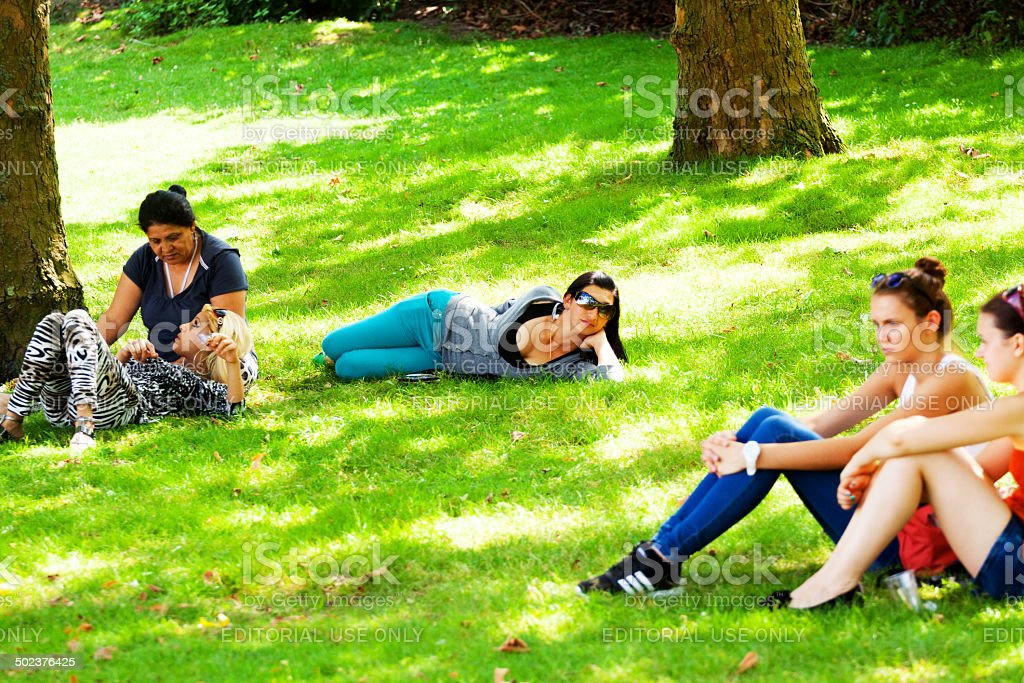 Lazy in summer stock photo