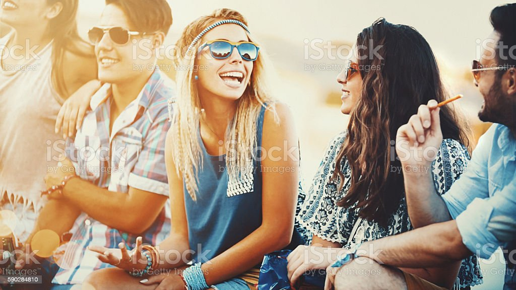 Lazy summer afternoon. stock photo