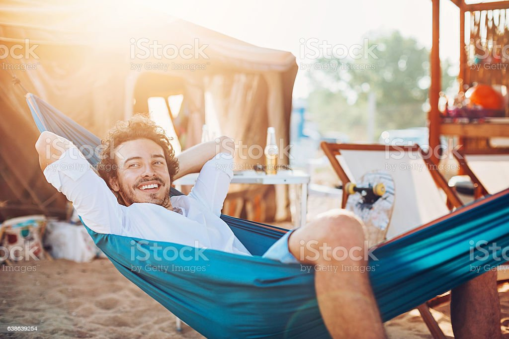 Lazy summer afternoon stock photo