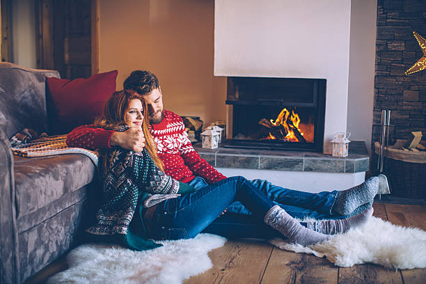 Lazy winter days stock photo