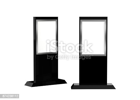 istock Lcd display stand, Banner Stand Media Display Signage 874238112