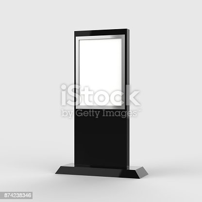 istock Lcd display stand, Banner Stand Media Display Signage 874238346