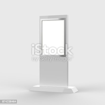 istock Lcd display stand, Banner Stand Media Display Signage 874238464