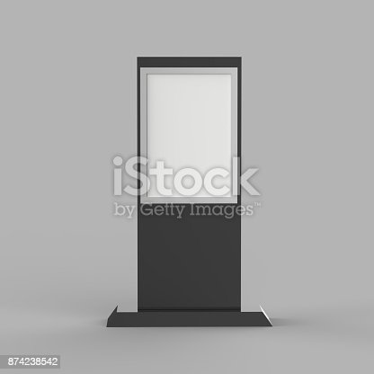 istock Lcd display stand, Banner Stand Media Display Signage 874238542
