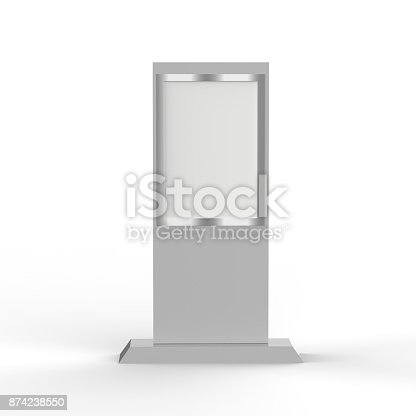 istock Lcd display stand, Banner Stand Media Display Signage 874238550