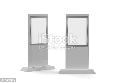 istock Lcd display stand, Banner Stand Media Display Signage 874240600