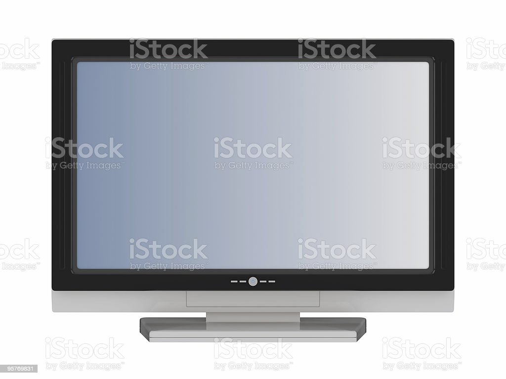 lcd flat tv stock photo