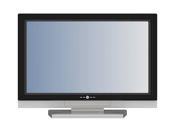 lcd flat tv stock photo