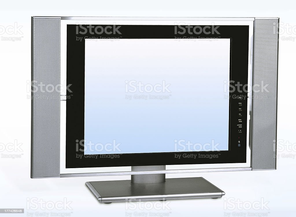 Lcd high definition flat screen tv royalty-free stock photo