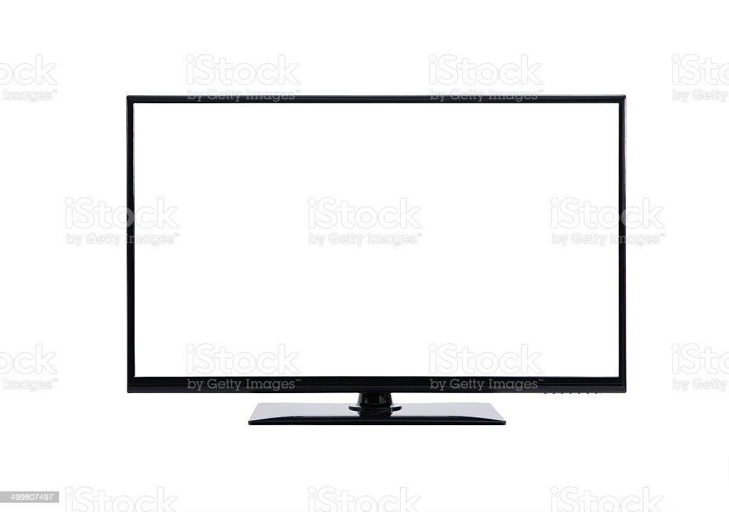 lcd tv monitor stock photo